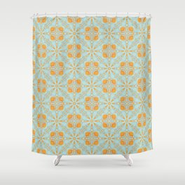 Ice Oranges Or Maybe Peaches Seamless Pattern Shower Curtain