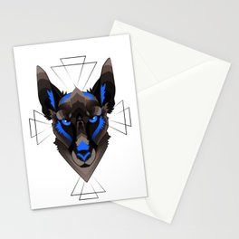 Graphic Belgian Malinois Stationery Cards