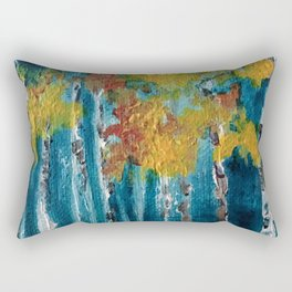 Abstract trees Rectangular Pillow