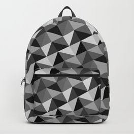 Pattern of triangles in gray shades Backpack