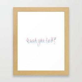 Androgynous  Framed Art Print