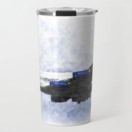 British Airways Airbus A380 Art Travel Mug