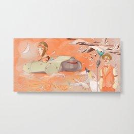 Aviator Orange Metal Print