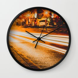 Time Lapse / Photography / Streetlights / Night Wall Clock