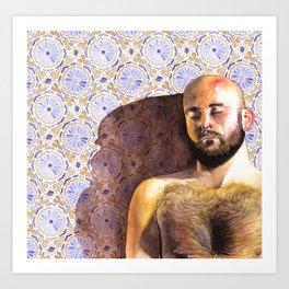 Carlos Fabric Art Print