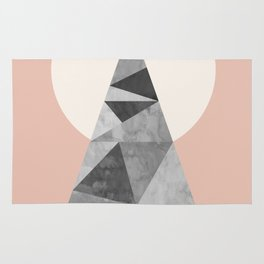 Minimalist and geometric stone I Rug