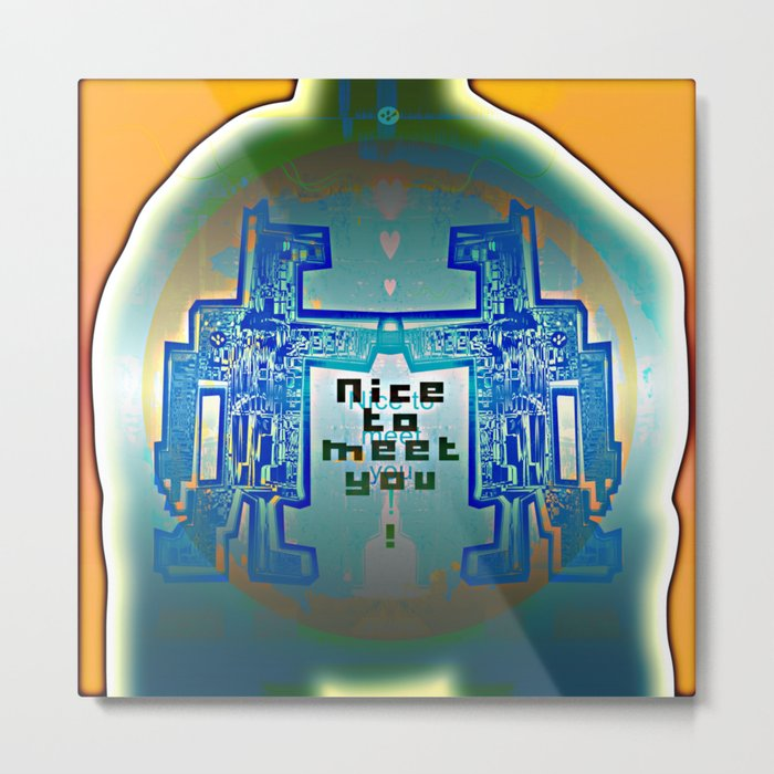 Nice to meet You / Robotic Lab Metal Print