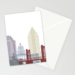 Sacramento skyline poster Stationery Cards
