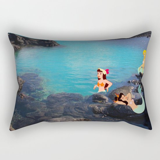 Peter Pan's Mermaid Lagoon Rectangular Pillow