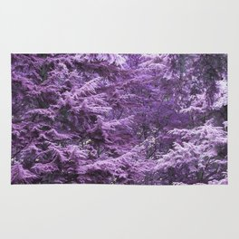 Infrared Trees Forest Rug