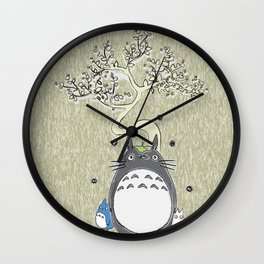 Will you be my neighbor Totoro? Version 2 Wall Clock