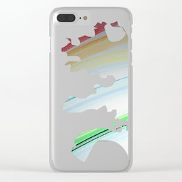 Broken Rainbow Clear iPhone Case