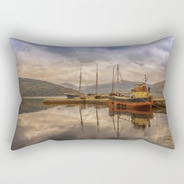 Evening at the Dock Rectangular Pillow