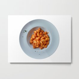 gnocchi with meat sauce Metal Print