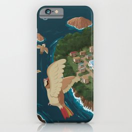 Cinnabar Island Travel Poster iPhone Case