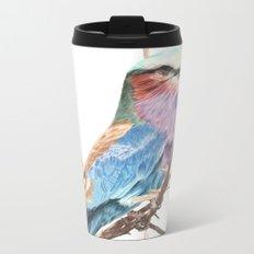 Lilac breasted roller Metal Travel Mug