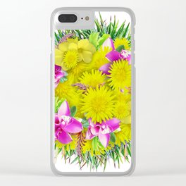 FlowerBall Clear iPhone Case