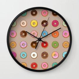 Colorful Doughnuts Wall Clock