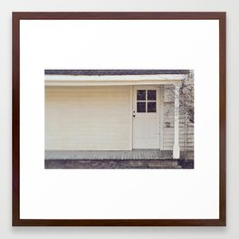finley door Framed Art Print