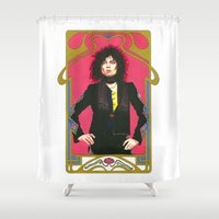 marc Shower Curtains featuring Marc Bolan by Saoirse Mc Dermott