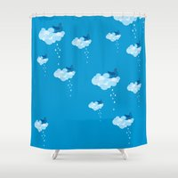 pee wee Shower Curtains featuring Bird pee by manecacamisasca