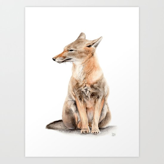Fox Watercolor Art Print