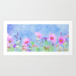 Abstrct wild flowers 2 Art Print