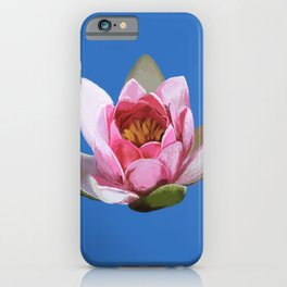Lotus Flower on Blue  iPhone Case
