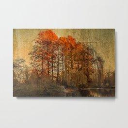 Autumn Sea scenery Metal Print