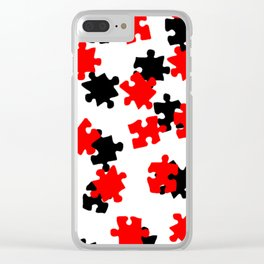DT PUZZLE SCATTER 8 Clear iPhone Case