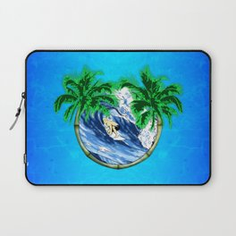 Tropical Surfer Laptop Sleeve