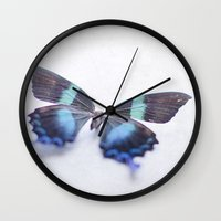 butterfly Wall Clocks featuring Butterfly by Pure Nature Photos