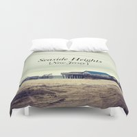 new jersey Duvet Covers featuring Seaside Heights, New Jersey by Ann Yoo