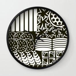 Jubako No4 Monochrome Wall Clock