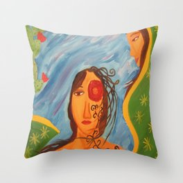 """""""Today you are Called Chicana"""" Throw Pillow"""