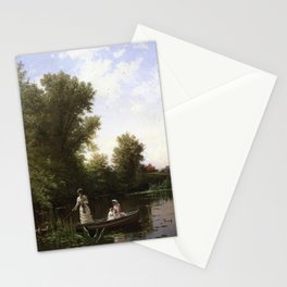 Alfred Thompson Bricher - Boating in the Afternoon Stationery Cards