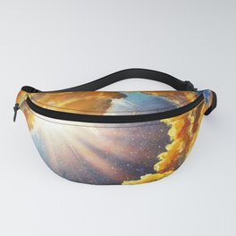 Dream in cosmos, universe, star galaxies Original oil painting. Modern art. Hand-drawn art. Fanny Pack