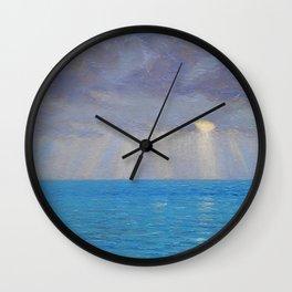 Ocean Sunset, California by Granville Redmond Wall Clock