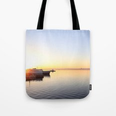pastel on the horizon Tote Bag