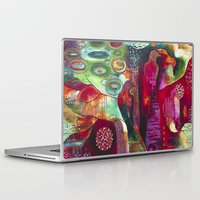 "flora bowley Laptop & iPad Skins featuring ""True Nature"" Original Painting by Flora Bowley by Flora Bowley"