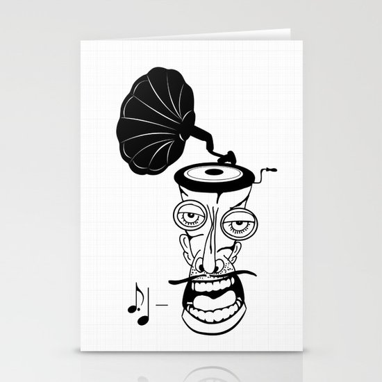 Music In My Head Stationery Cards