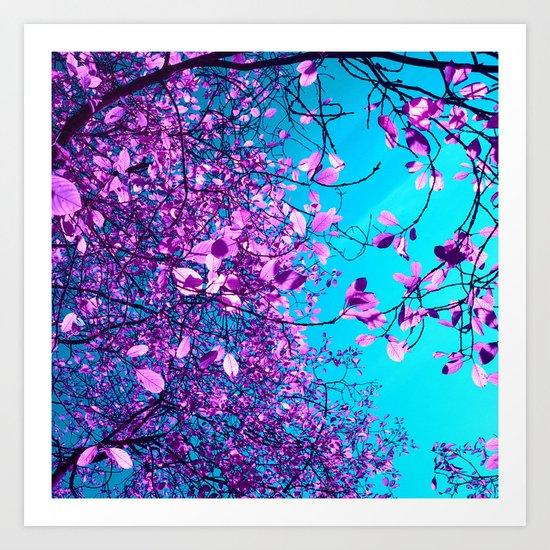 purple tree XXIII Art Print