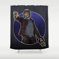 star lord Shower Curtains featuring Peter Quill the Star Lord by Arnix