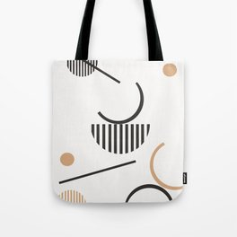 Hera - minimalist art print, abstract art, geometric, earthtones, dots, lines, minimalism Tote Bag