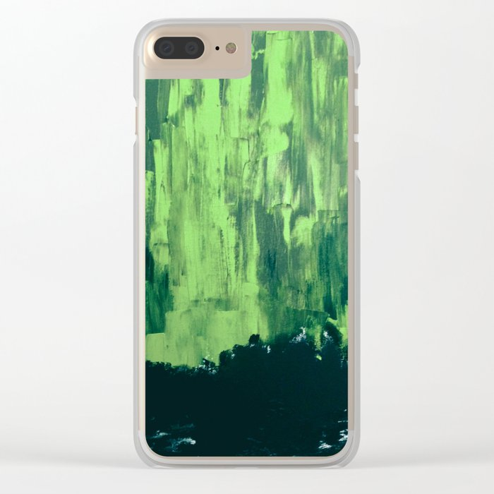Snow Dreams At Night, Solar Flares Series Clear iPhone Case