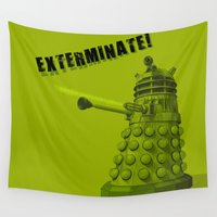 dalek Wall Tapestries featuring Dalek by Digital Arts & Crafts by eXistenZ
