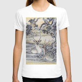 12,000pixel-500dpi - Kawanabe Kyosai - Deer And Monkeys - Digital Remastered Edition T-shirt