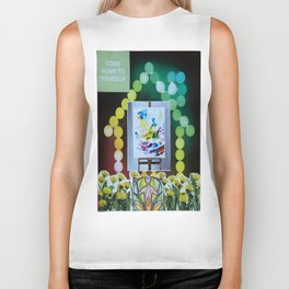 Collage - Come Home to Yourself Biker Tank