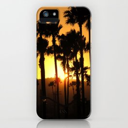 Palm Tree Hill Sunset iPhone Case