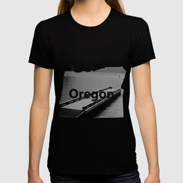 Suttle Lake in Gray and Black T-shirt